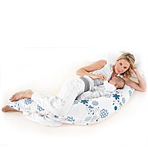 Подушка для беременных и кормящих Theraline Тералайн Германия 190 см Букет синяя