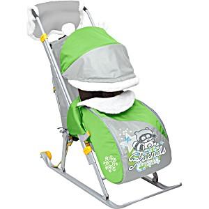 Санки коляска Ника 6 Friends зеленый