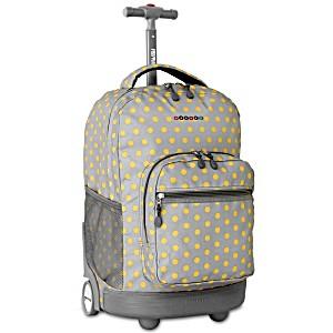 Универсальный школьный рюкзак на колесах JWORLD Sunrise арт. RBS18 Горох
