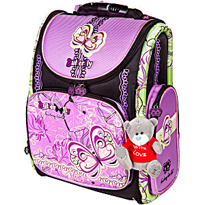 Школьный рюкзак – ранец HummingBird Butterfly арт. K79 с мешком для обуви